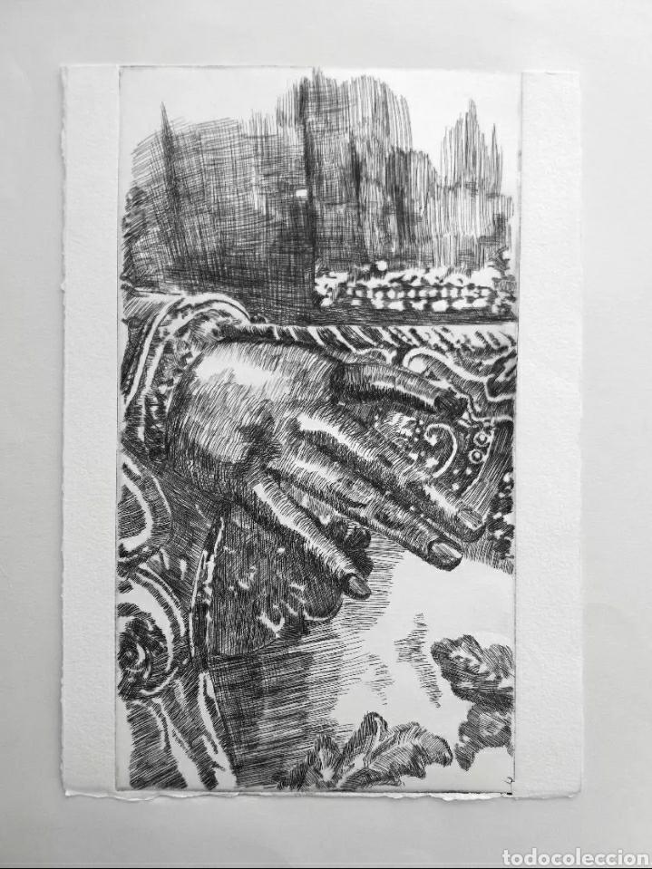Arte: Lote cinco grabados originales sobre vírgenes - Foto 3 - 176145112
