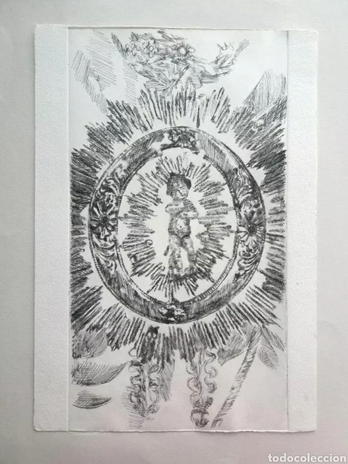Arte: Lote cinco grabados originales sobre vírgenes - Foto 4 - 176145112