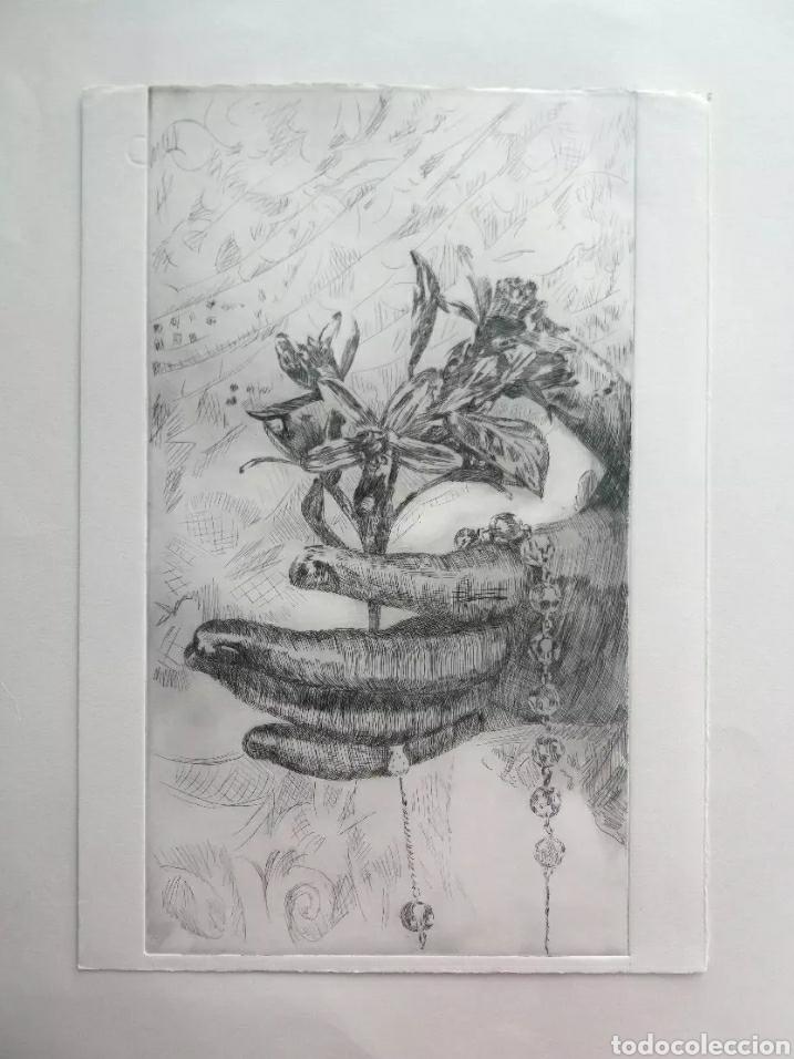 Arte: Lote cinco grabados originales sobre vírgenes - Foto 5 - 176145112