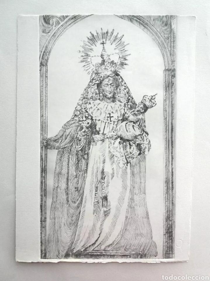 LOTE CINCO GRABADOS ORIGINALES SOBRE VÍRGENES (Arte - Arte Religioso - Grabados)