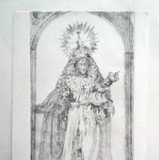 Arte: LOTE CINCO GRABADOS ORIGINALES SOBRE VÍRGENES. Lote 176145112