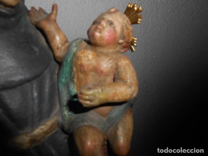 Arte: SAN ANTONIO CON EL NIÑO TALLA DE MADERA - Foto 3 - 176216107