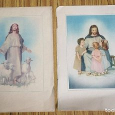 Arte: 2 LAMINAS ANTIGUAS IMPRESAS RELIGIOSAS. Lote 176216343