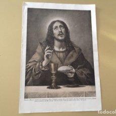 Arte: DIPTICO CON 3 ESCENAS RELIGIOSAS CRISTO JESÚS ULTIMA CENA EUCARISTIA CAMINO DE EMAUS TRANSFIGURACION. Lote 176219553