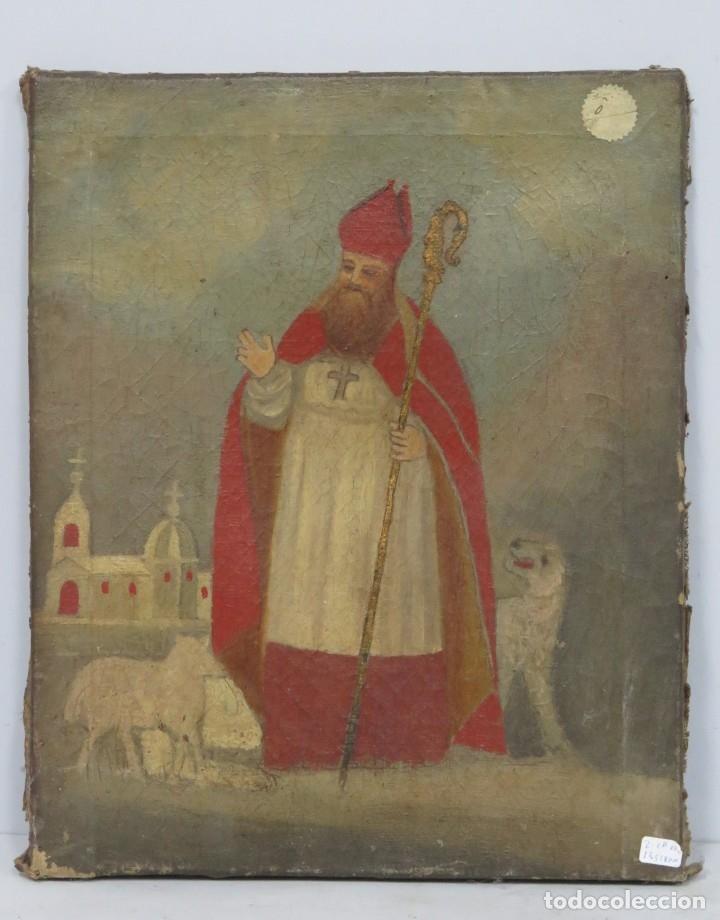 SAN LAZARO. OLEO S/ LIENZO. SIGLO XIX (Arte - Arte Religioso - Pintura Religiosa - Oleo)