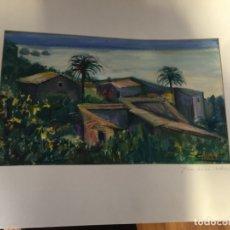 Arte: ACUARELA PINTORA CARME LLOBET MALLORCA. Lote 176277437