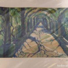 Arte: ACUARELA PINTORA CARMEN LLOBET . Lote 176277684
