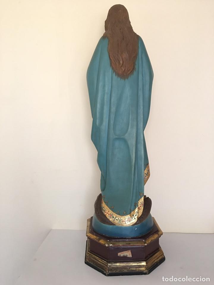 Arte: ANTIGUA TALLA DE MADERA - VIRGEN PURÍSIMA - FINALES DEL SIGLO XIX - GRAN TAMAÑO - Foto 10 - 176284013