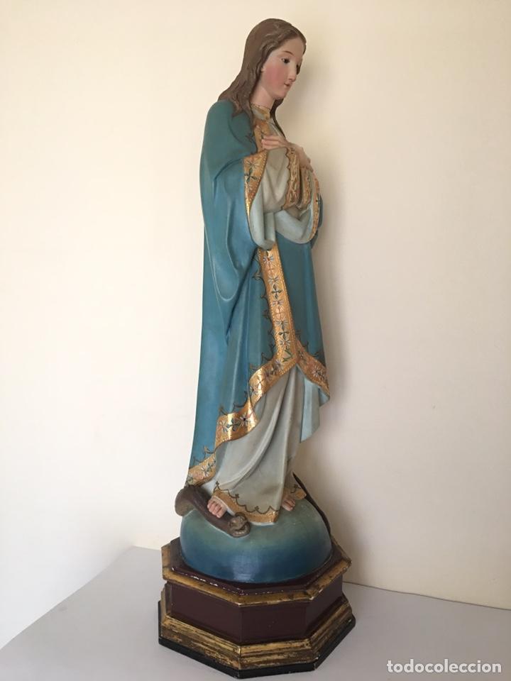 Arte: ANTIGUA TALLA DE MADERA - VIRGEN PURÍSIMA - FINALES DEL SIGLO XIX - GRAN TAMAÑO - Foto 12 - 176284013