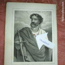 Arte: GRABADO ORIGINAL RELIGIOSO DEL AÑO 1857 - LIT. DE J.J. MARTINEZ DESENGAÑO 10 MADRID - SAN PABLO . Lote 176287090