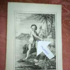 Arte: GRABADO ORIGINAL RELIGIOSO DEL AÑO 1857 - LIT. DE J.J. MARTINEZ DESENGAÑO 10 MADRID SAN JUAN BAUTIST. Lote 176287600