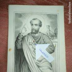 Arte: GRABADO ORIGINAL RELIGIOSO DEL AÑO 1857 - LIT. DE J.J. MARTINEZ DESENGAÑO 10 MADRID SAN PEDRO. Lote 176287720