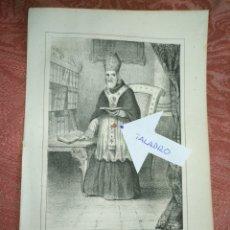 Arte: GRABADO ORIGINAL RELIGIOSO AÑO 1857 - LIT. DE J.J. MARTINEZ DESENGAÑO 10 MADRID SAN BASILIO. Lote 176289054
