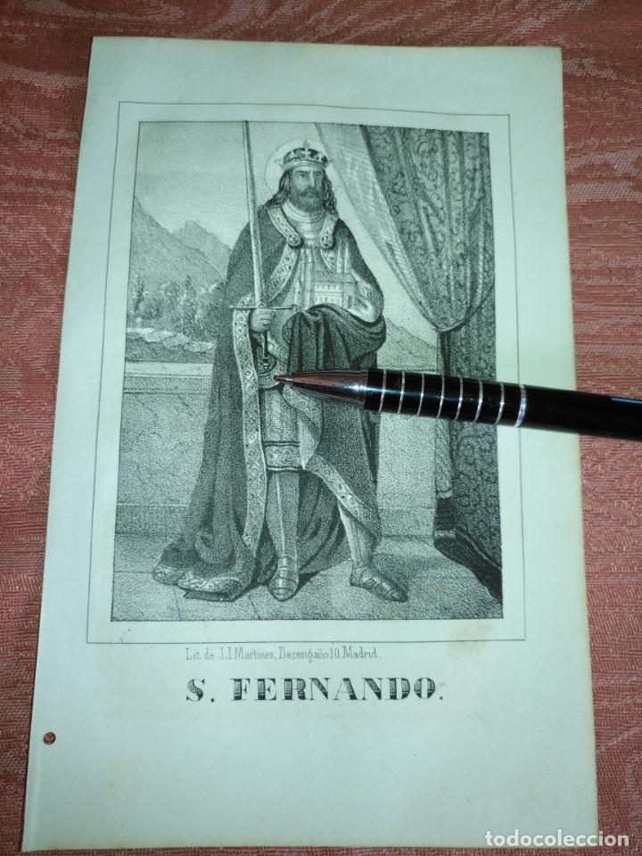 GRABADO ORIGINAL RELIGIOSO AÑO 1857 - LIT. DE J.J. MARTINEZ DESENGAÑO 10 MADRID SAN FERNANDO (Arte - Arte Religioso - Grabados)