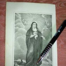 Arte: GRABADO ORIGINAL RELIGIOSO AÑO 1857 - LIT. DE J.J. MARTINEZ DESENGAÑO 10 MADRID SAN MONICA. Lote 176289488
