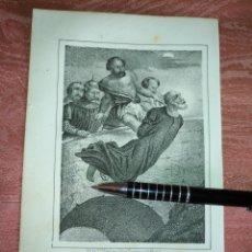 Arte: GRABADO ORIGINAL RELIGIOSO AÑO 1857 - LIT. DE J.J. MARTINEZ DESENGAÑO 10 MADRID SAN JUAN NEMOPOCENO. Lote 176289550