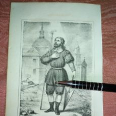 Arte: GRABADO ORIGINAL RELIGIOSO AÑO 1857 - LIT. DE J.J. MARTINEZ DESENGAÑO 10 MADRID SAN ISIDRO LABRADOR. Lote 176289614