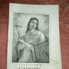 Arte: GRABADO ORIGINAL RELIGIOSO AÑO 1857 - LIT. DE J.J. MARTINEZ DESENGAÑO10 MADRID SANTA MARGARITA. Lote 176291170