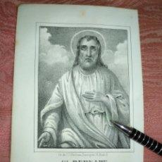 Arte: GRABADO ORIGINAL RELIGIOSO AÑO 1857 - LIT. DE J.J. MARTINEZ DESENGAÑO10 MADRID SAN BERNABE. Lote 176291218