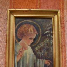 Arte: OLEO SOBRE TABLA NIÑO JESUS. MARCO 23.5 X 16 CMS.. Lote 176291415