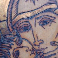 Arte: BONITO RETABLO GRABADO DE LA VIRGEN MARIA Y JESUS CON FIRMA DE AUTOR. Lote 176321683