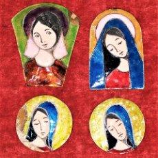Arte: VIRGEN MARIA. ESMALTE TRANSLÚCIDO SOBRE COBRE. ESPAÑA. CIRCA 1950. Lote 176340192