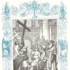 Arte: LA INVENCIÓN DE LA SANTA CRUZ - GRABADO DÉCADAS 1850-1860 - BUEN ESTADO. Lote 209310365