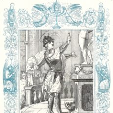 Arte: SAN JORJE, MARTIR (SAN JORGE) - GRABADO DÉCADAS 1850-1860 - BUEN ESTADO. Lote 176367964