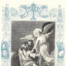 Arte: SANTOS MARCELINO Y PEDRO, MÁRTIRES - GRABADO DÉCADAS 1850-1860 - BUEN ESTADO. Lote 176369959
