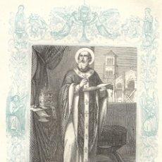 Arte: SAN MARCOS, PAPA - GRABADO DÉCADAS 1850-1860 - BUEN ESTADO. Lote 176371545