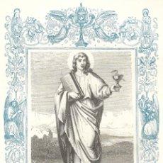 Arte: SAN JUAN, APÓSTOL Y EVANGELISTA - GRABADO DÉCADAS 1850-1860 - BUEN ESTADO. Lote 233764740