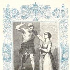Arte: SANTA VICTORIA, VIRGEN Y MARTIR - GRABADO DÉCADAS 1850-1860 - BUEN ESTADO. Lote 176371990