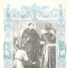 Arte: SANTO DOMINGO DE SILOS, ABAD Y CONFESOR - GRABADO DÉCADAS 1850-1860 - BUEN ESTADO. Lote 176372284
