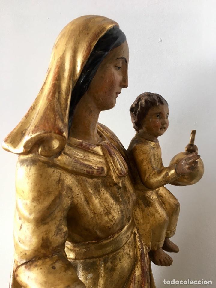 Arte: Virgen con el niño. 51cm. Escuela andaluza S.XVIII - Foto 2 - 176412457