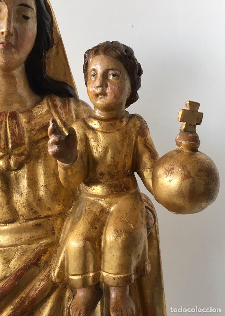 Arte: Virgen con el niño. 51cm. Escuela andaluza S.XVIII - Foto 7 - 176412457
