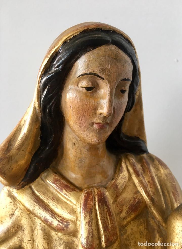Arte: Virgen con el niño. 51cm. Escuela andaluza S.XVIII - Foto 5 - 176412457