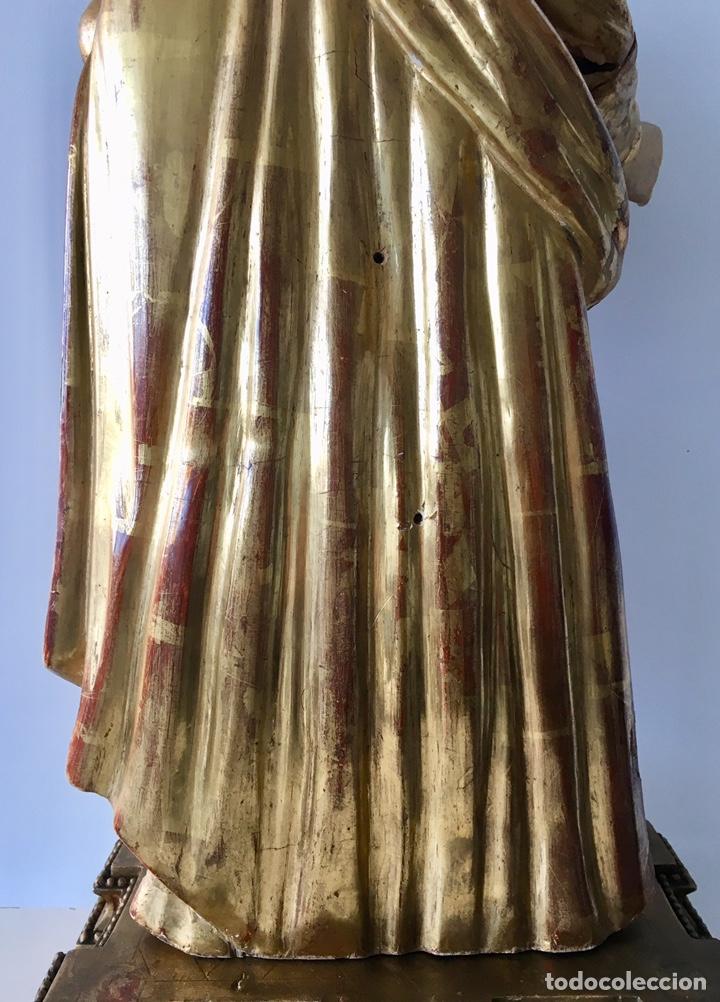 Arte: Virgen con el niño. 51cm. Escuela andaluza S.XVIII - Foto 8 - 176412457