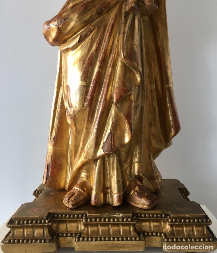 Arte: Virgen con el niño. 51cm. Escuela andaluza S.XVIII - Foto 9 - 176412457