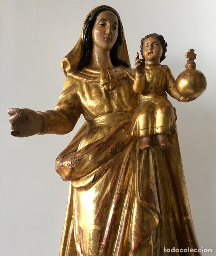 Arte: Virgen con el niño. 51cm. Escuela andaluza S.XVIII - Foto 10 - 176412457