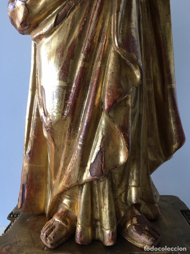 Arte: Virgen con el niño. 51cm. Escuela andaluza S.XVIII - Foto 12 - 176412457