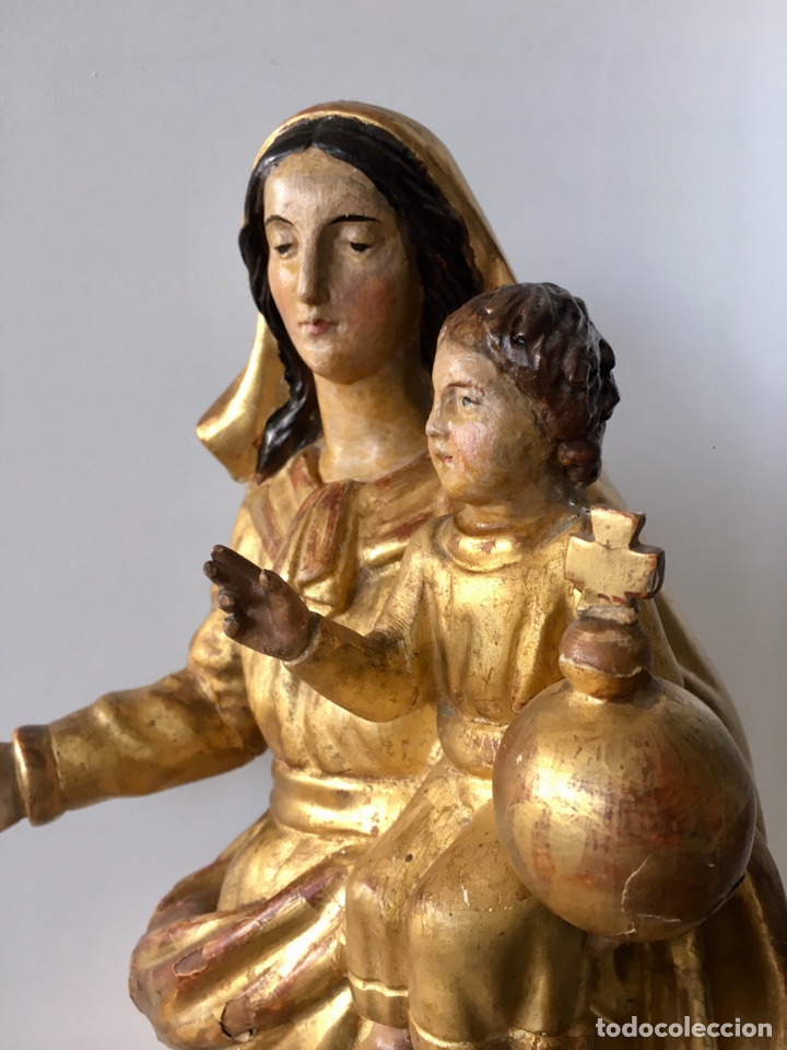 Arte: Virgen con el niño. 51cm. Escuela andaluza S.XVIII - Foto 13 - 176412457