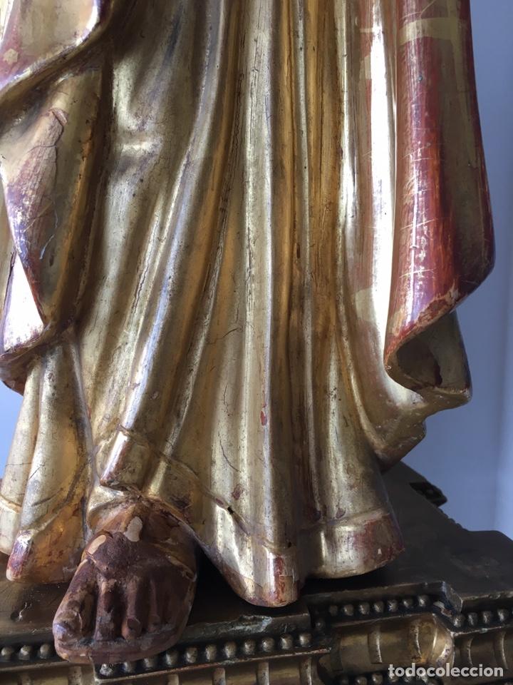 Arte: Virgen con el niño. 51cm. Escuela andaluza S.XVIII - Foto 16 - 176412457