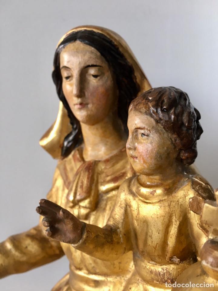 Arte: Virgen con el niño. 51cm. Escuela andaluza S.XVIII - Foto 17 - 176412457