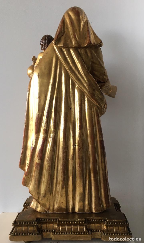 Arte: Virgen con el niño. 51cm. Escuela andaluza S.XVIII - Foto 19 - 176412457