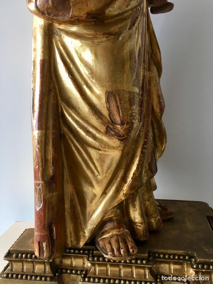 Arte: Virgen con el niño. 51cm. Escuela andaluza S.XVIII - Foto 21 - 176412457