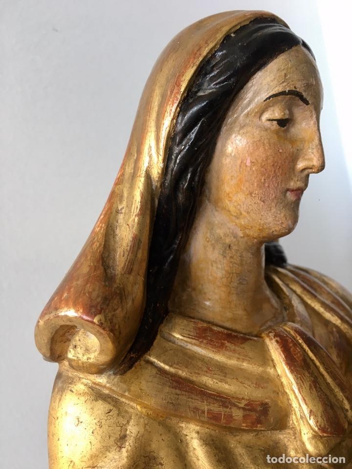 Arte: Virgen con el niño. 51cm. Escuela andaluza S.XVIII - Foto 22 - 176412457