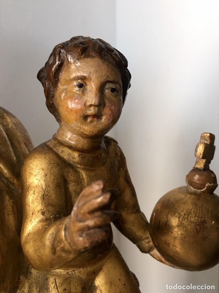 Arte: Virgen con el niño. 51cm. Escuela andaluza S.XVIII - Foto 23 - 176412457