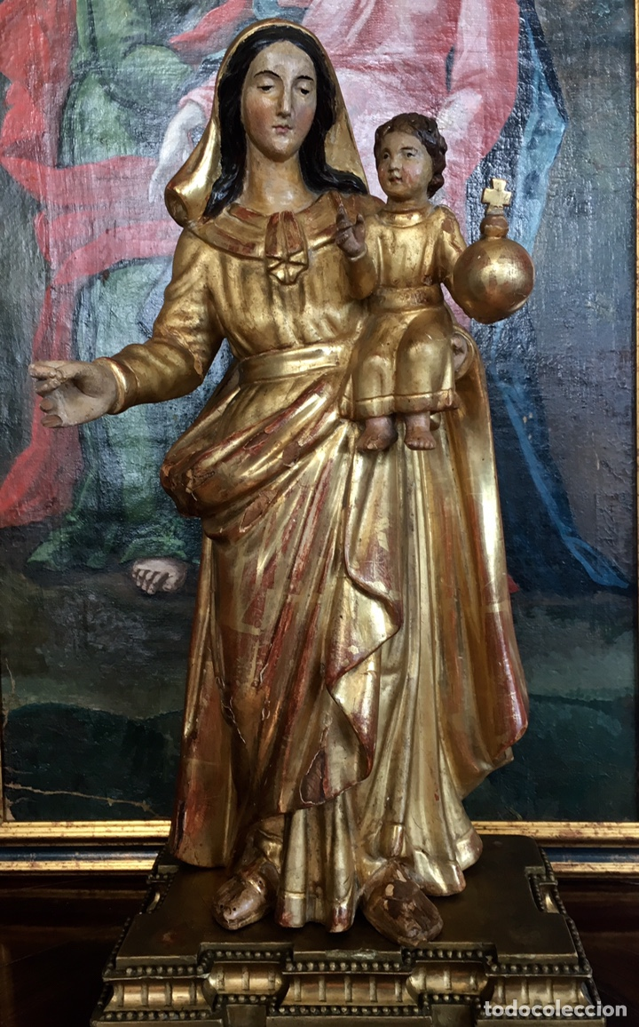 Arte: Virgen con el niño. 51cm. Escuela andaluza S.XVIII - Foto 6 - 176412457