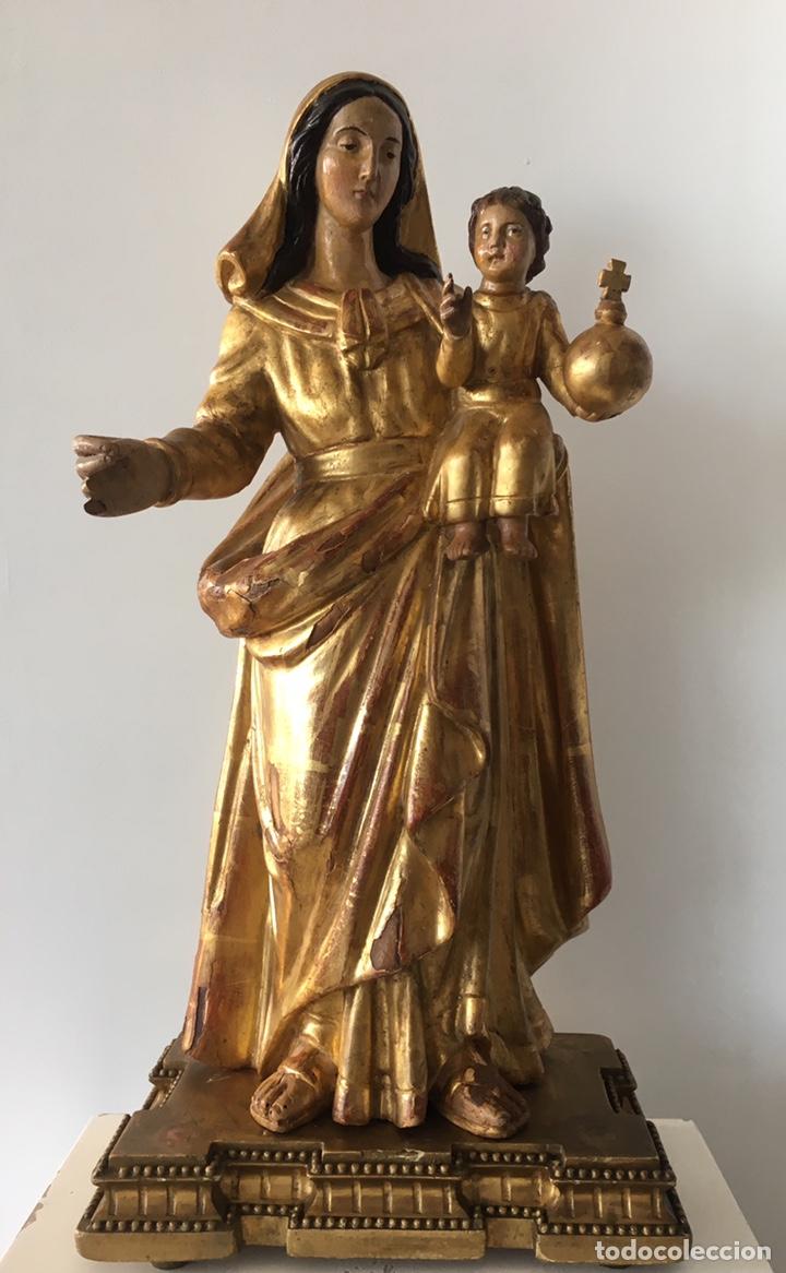 Arte: Virgen con el niño. 51cm. Escuela andaluza S.XVIII - Foto 4 - 176412457