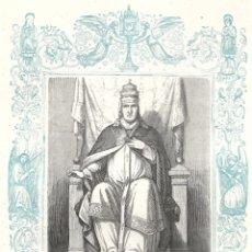 Arte: SAN MARTÍN, PAPA Y MARTIR - GRABADO DÉCADAS 1850-1860 - BUEN ESTADO. Lote 176431518
